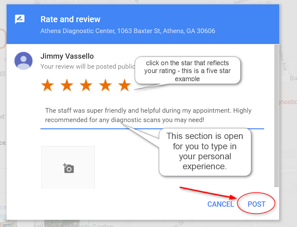post your google review