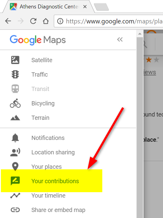 google map your contributions